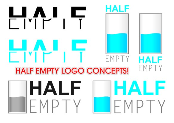 Half Empty Logo Design Concepts
