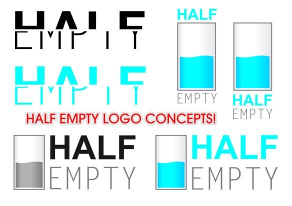 Half Empty Logo Design Concepts